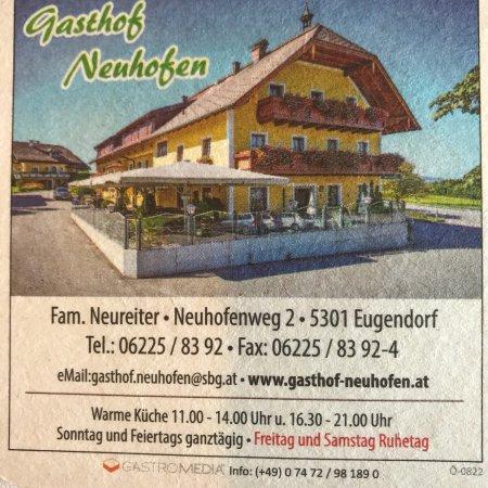 Eugendorf, Austria: Tolle Menüs