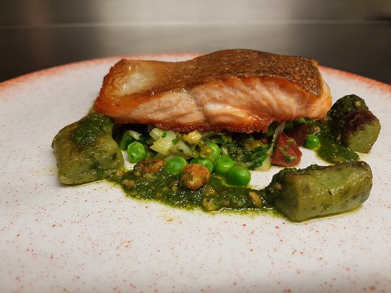 The Windmill: Pan Seared Fillet of Sea Trout from the a la carte menu