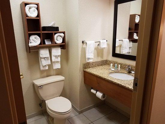 Quality Inn & Suites University: Nice, clean bathroom