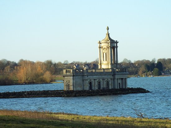 View of Normanton Church from the grounds of the hotel.