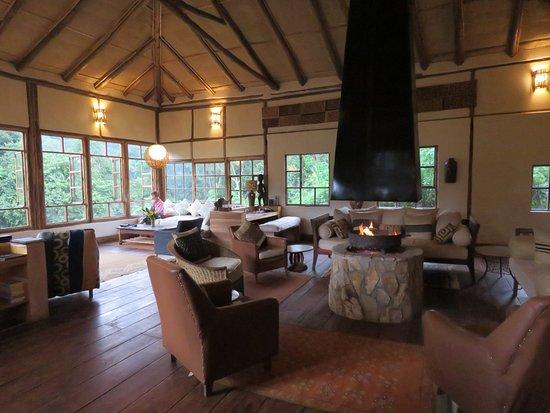 Bwindi Lodge: communal lounge