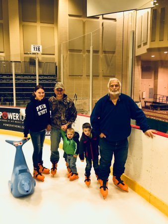 Athens, GA: Kiddos first time on ice skates!
