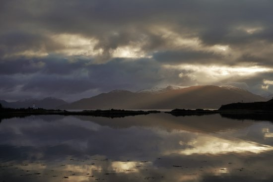Sleat, UK: The view from the beach front