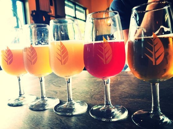 Newmarket, NH: Sampling beers at Deciduous Brewing