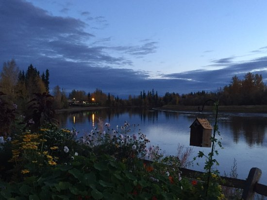 Chena River State Recreation Area: Evening view of riverside