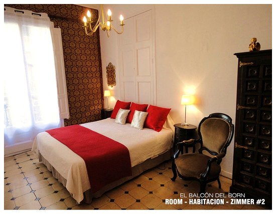 El Balcon del Born: Room #2 with Ensuite: King size bed or Twin beds + Private Bathroom =130€ per night.