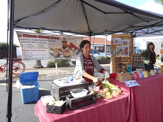 Cedros Design District: Vendors eagerly demonstrate their wares