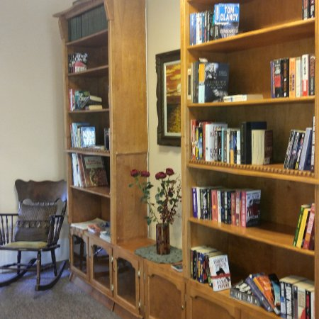 Pictou, Canada: there is a guest library on each floor. Please take a book or leave a book