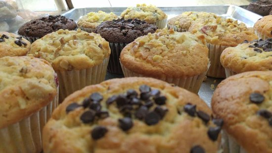 Canastota, NY: Various flavors of Muffins