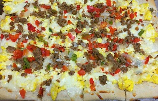 Canastota, NY: Breakfast pizza