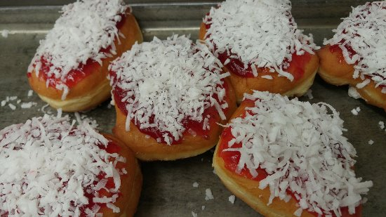 Canastota, NY: The Raspberry Zinger Doughnut
