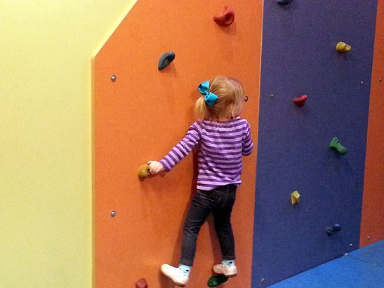 Exploritorium The Climbing Wall Is Perfect For Toddlers
