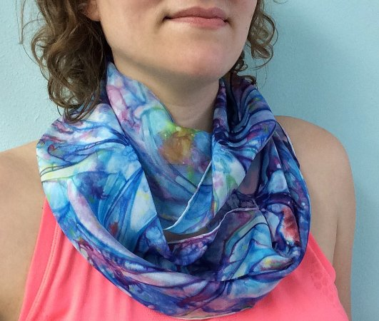 Bigfork, MT: Silk Dyed Scarves