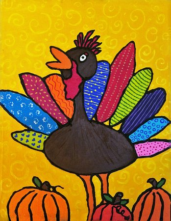 Bigfork, MT: Kids Thanksgiving Turkey Painting
