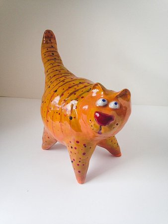 Bigfork, MT: Ceramic Cat