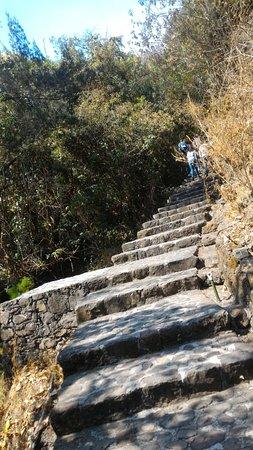 Zona Arqueológica de Malinalco: escalinata