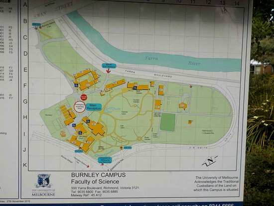 Burnley Gardens: Map of Campus and Gardens