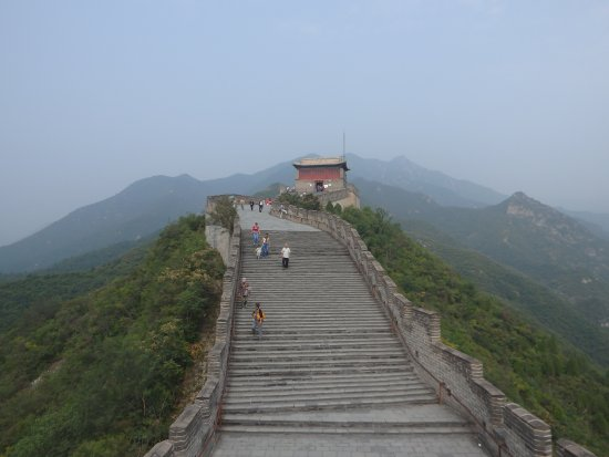 Juyong Pass of Great Wall : the uppermost point on the righthand side