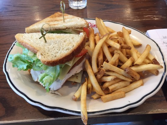 East Newark, NJ: Good turkey club, but very expensive ($15)