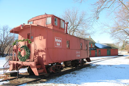caboose and original Wahoo depot