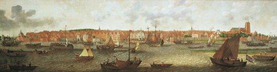 Gezicht op Dordrecht(1629),A.Willaerts DM/842/415,olieverf op doek,181 x 669.2 cm, Dordrechts Mu