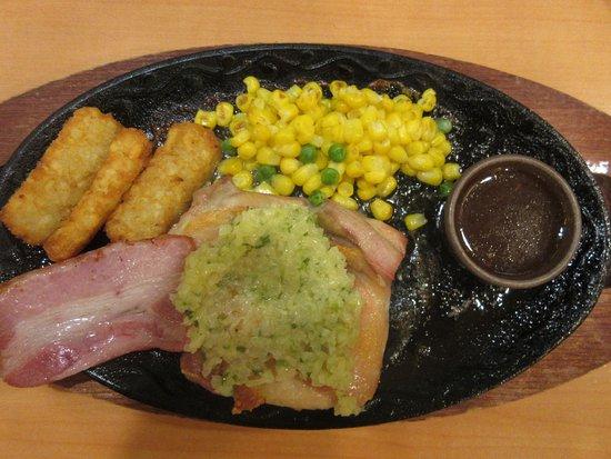 Shibata-machi, اليابان: grilled bacon & chicken