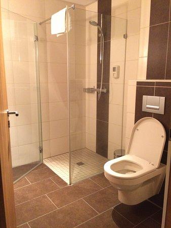 Badkamer met toilet en wasbak. - Picture of Wellness Hotel & Golf ...