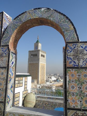 Zitouna Mosque: Mosque from panoramic viewpoint