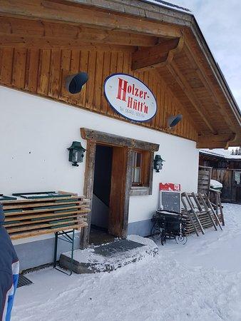 Holzerhütte: Entrance