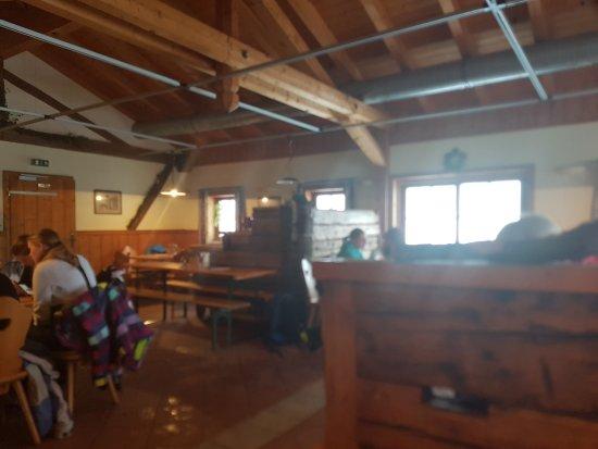 Holzerhütte: Inside