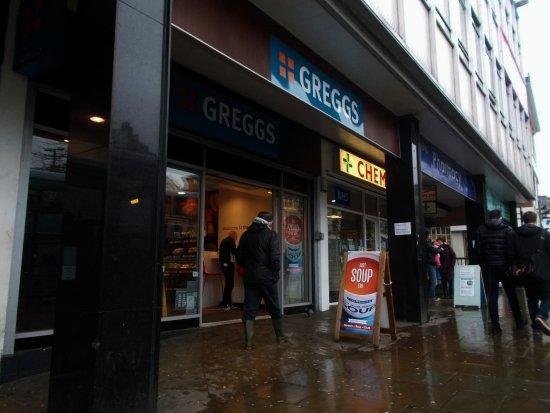 Attenborough, UK: Greggs, Beastmarket Hill, Nottingham