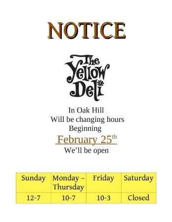 Oak Hill, Estado de Nueva York: New Hours