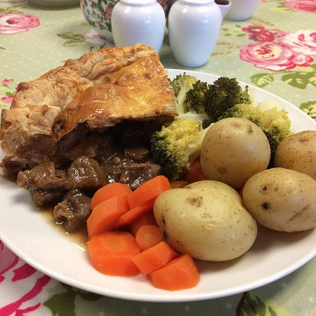 The Coffee Pot: Today's special - home made steak pie served with fresh vegetables.
