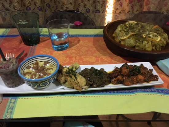 House of Fusion Marrakech: Picture of the items I cooked.