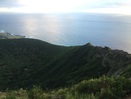 Koko Crater Railway Trail : The view inside the crater