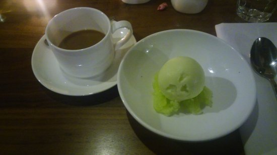 Marietta, GA: Green Apple Sorbet with Cool Beans Coffee aT Spring