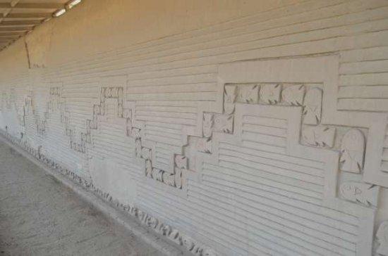 Chan Chan: mural indicando correntes marítimas