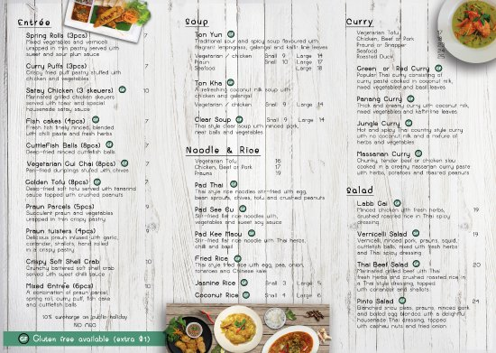 Coolum Beach, Australia: Take-Away menu