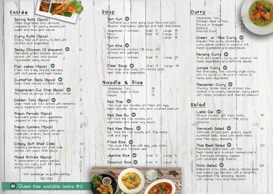 Coolum Beach, Австралия: Take-Away menu
