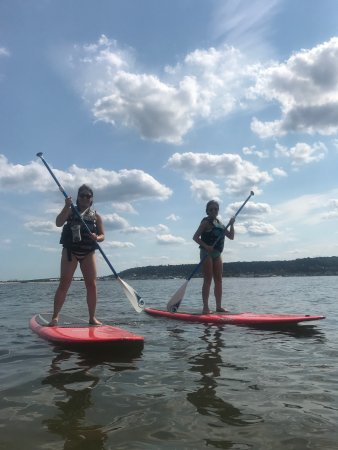 Sandy Hook, นิวเจอร์ซีย์: Paddleboard rentals & lessons. NJ largest S.U.P. fleet!