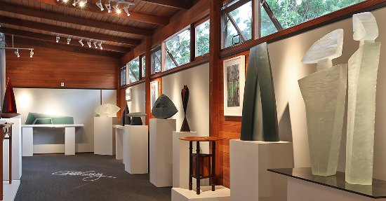Art Glass & Wood Sculpture Gallery at Peter Kovacsy Studio | Pemberton Western Australia