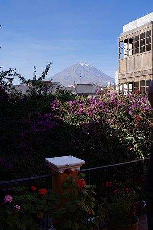 La Hosteria: uitzicht vanuit het hotel