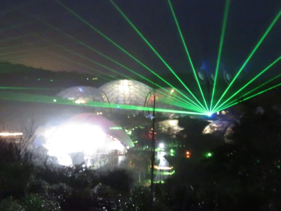 Awesome Lights Over Eden Project