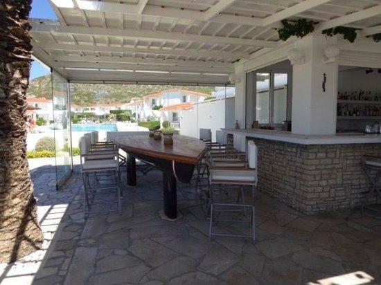 Fito Aqua Bleu Resort : Restaurant Almyra, boat-table