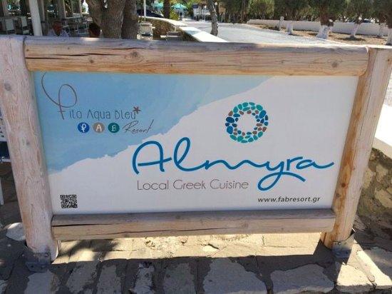 Fito Aqua Bleu Resort : restaurant Almyra