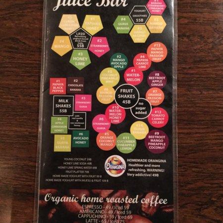 The Falafelist: drinks menu