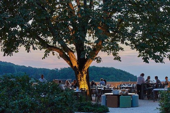 Läufelfingen, Swiss: Abendstimmung Gartenterrasse Bad Ramsach Quellhotel