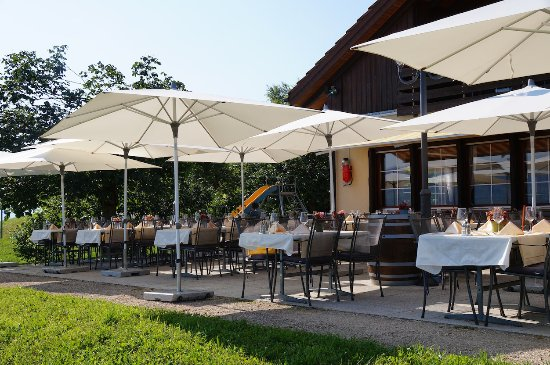 Stäfa, Szwajcaria: Terasse mit schönste Seesicht.