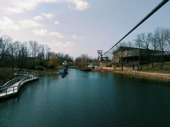 Petersburg, KY: Begin your tour by soaring over our 3-acre lake.