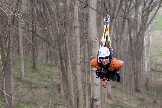 Petersburg, KY: Our Extreme zip line package features our largest zip lines including our 1/3 mile 'Raptor' line
